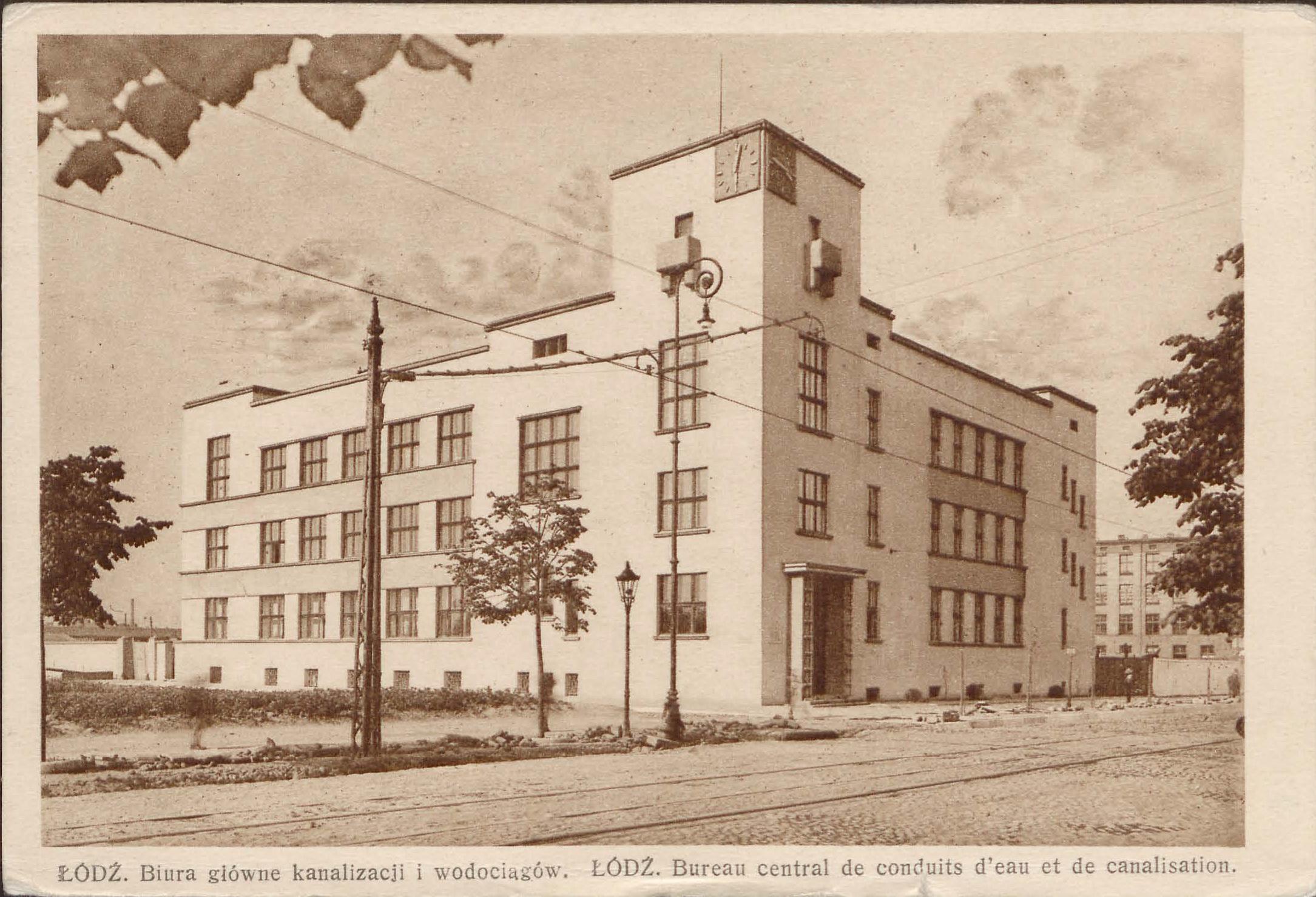 Biuro główne kanalizacji i wodociągów. Lata 30. XX wieku.