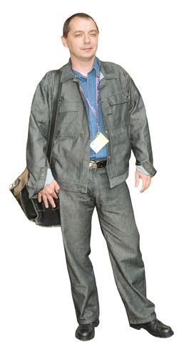 Wygląd pracownika ZWiK dokonującego odczytu wodomierzy
